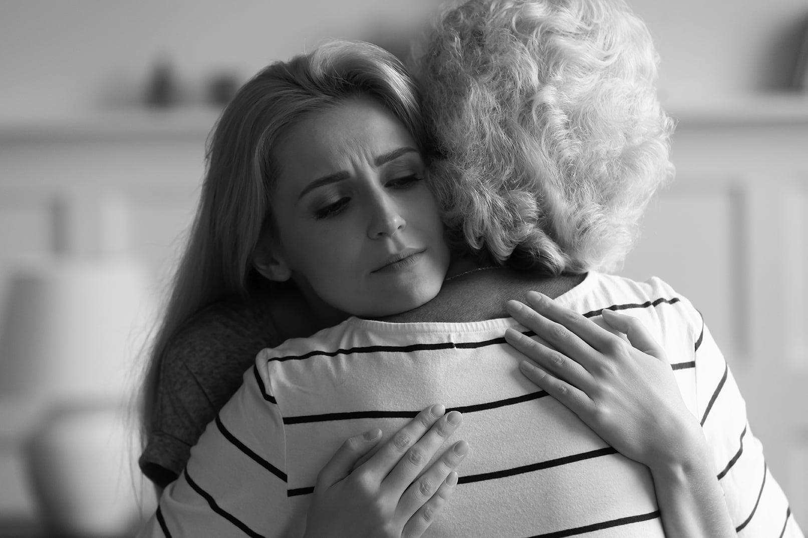 woman hugging grandmother